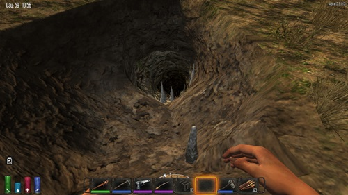 【7dtd】洞窟と軍事キャンプ見つけた