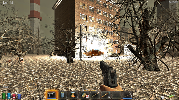 【7dtd】そうだ爆薬で建物ふっとばそう!
