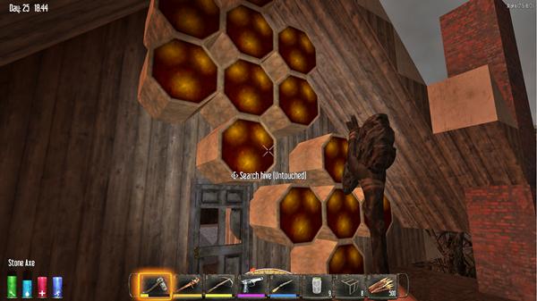 【7dtd】ハチの巣みつけた