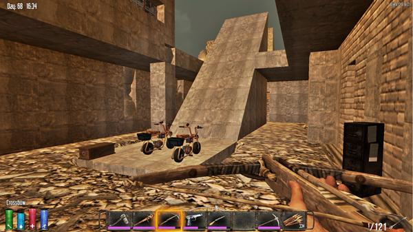 【7dtd】ミニバイクのジャンプ台
