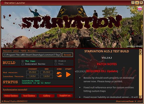 【7dtd】「STARVATION」MODとバニラの共存方法【α15】